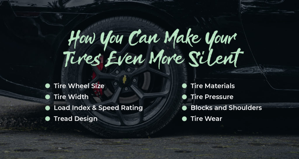 How to make tires silent