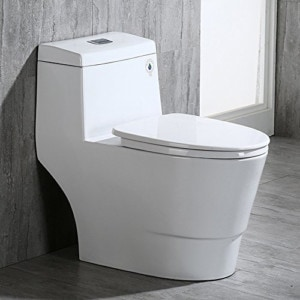 WoodBridge T-0001, Dual Flush Elongated One-Piece Toilet
