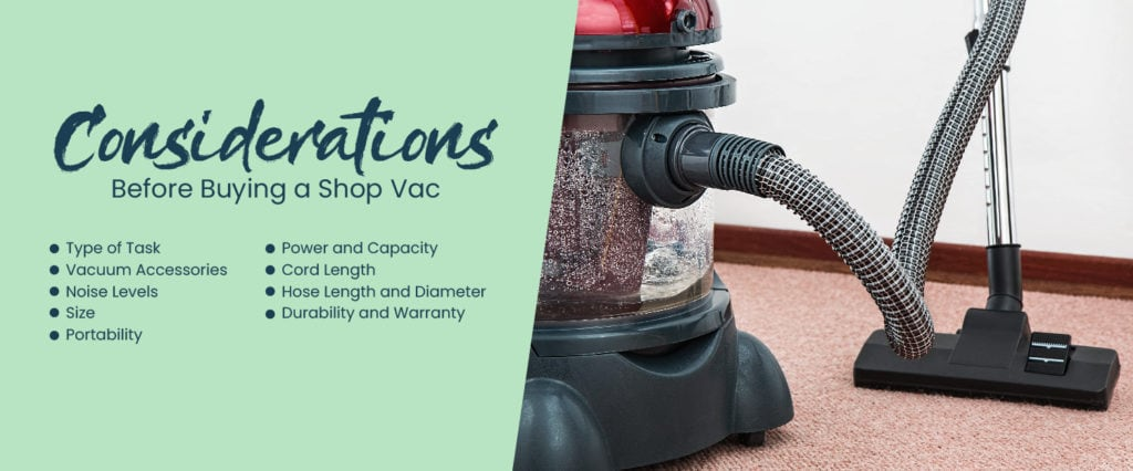 Considerations before buying a shop vac illustration