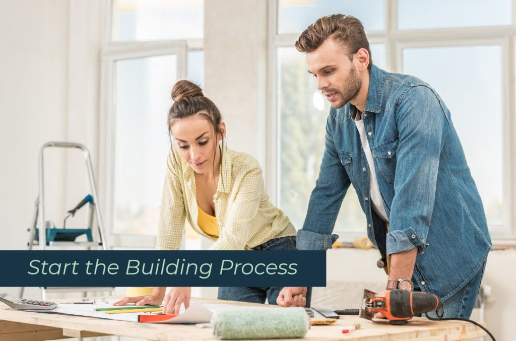 Couple Starting the Building Process