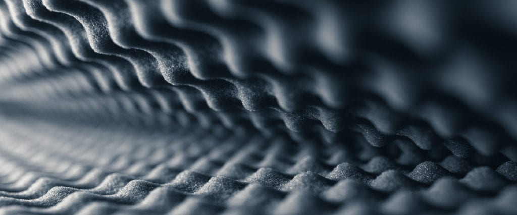 Zoomed-in picture of acoustic foam panels