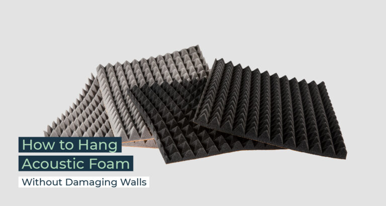 Silent Home Hub How to Hang Acoustic Foam Without Damaging Walls