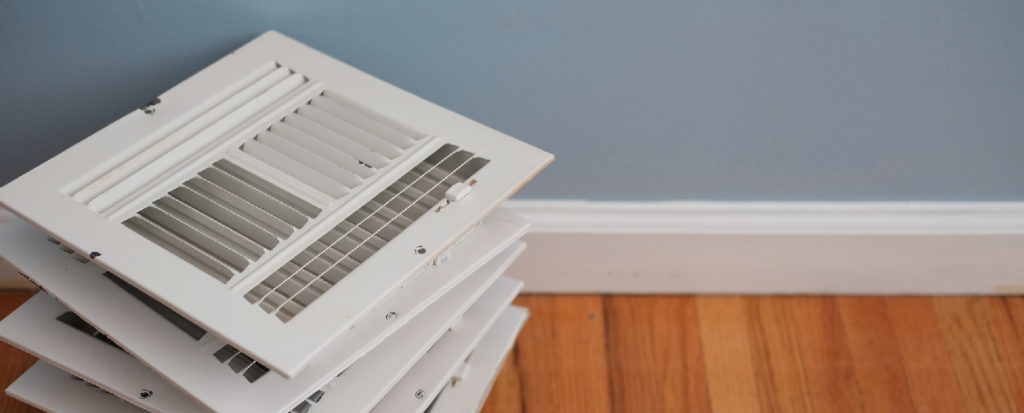 Stack of white air vents