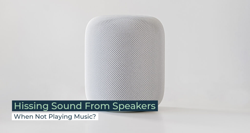 Silent Home Hub Hissing Sound From Speakers When Not Playing Music