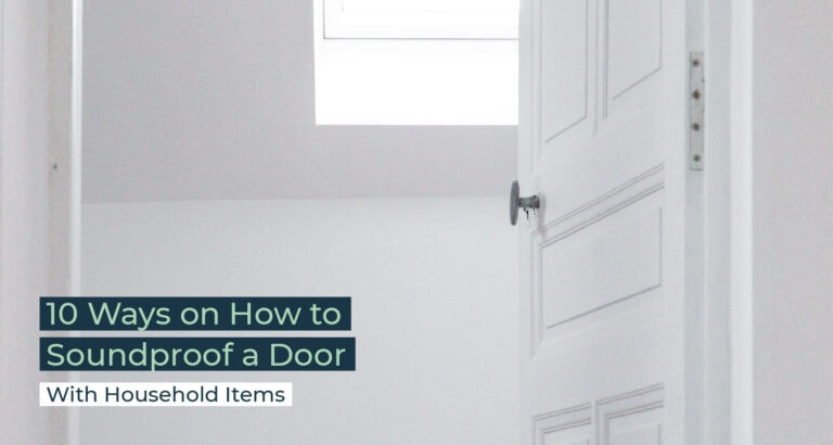 Silent Home Hub How to Soundproof a Door With Household Items